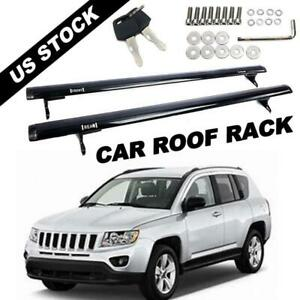 2pcs Cross Bar For Jeep Compass 16 17 18 19 Roof Rack Cargo Luggage Carrier Us