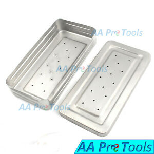 Perforated Medical Instruments Box 30x15x6 Cm Stainless Steel Surgical Box
