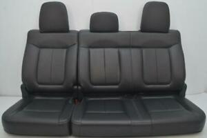 2009 2014 Ford F150 F 150 Fx2 Fx4 Oem Rear Black Leather Seats Crew Cab