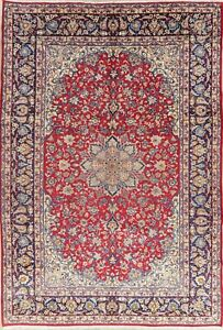 Floral Oriental Wool Area Rug Traditional Hand Knotted Medallion Carpet 10x14