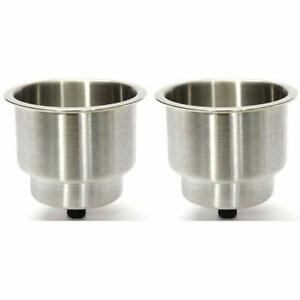 Prairie Metal Stainless Steel Drink Cup Holder Stand For Marine Boat Truck Rv