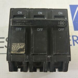 General Electric Ge Thqb32100 3 Pole 100 Amp Bolt on Circuit Breaker