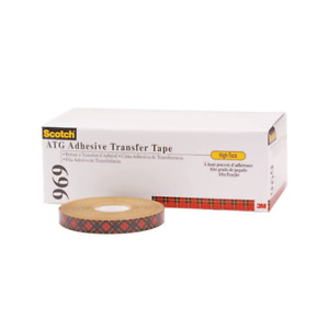 Scotch Atg Adhesive Transfer Tape 969 Clear 1 4 In X 18 Yd 5 Mil