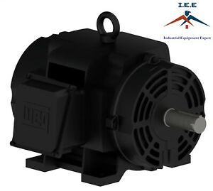 Weg 15 Hp 3 Phase 1800 Rpm Air Compressor Duty Electric Motor 254t Frame Odp
