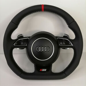 Audi S5 Flat Bottom Steering Wheel _ Rs5 Rs6 S3 Tts S6 S7 S4 S line Ttrs Rs7 Rs4