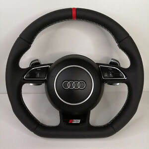 Audi S5 Flat Bottom Steering Wheel Rs5 Rs6 S3 Tts S6 S7 S4 S Line Ttrs Rs7 Rs4