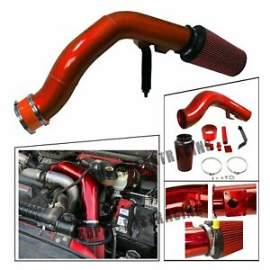 Oiled Cold Air Intake Kit Red For 03 07 Ford F250 f350 6 0l Powerstroke Diesel