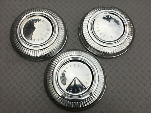 Set Of Three 67 69 Mercury Cougar Comet Cyclone Dog Dish Hub Caps C8ga 1130 a