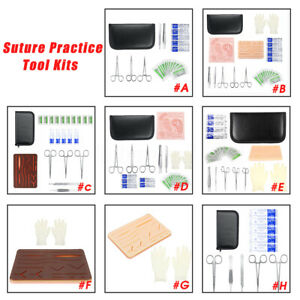 Medical Suture Practice Instrument Tool Kits Silicone Suture Pad Doctor Nurse
