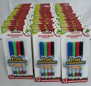Lot Of 5 Packs Scentos Dry Erase Markers 4 Per Pack Fine Tip 41427 Fruit Scents