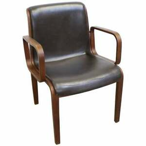 Mid Century Danish Modern Bill Stephens Knoll Walnut Arm Chair