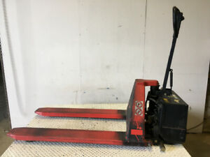 Electric Pallet Jack steel 31 5 Max Lift Height 26 Wide Forks 3300lbs Max