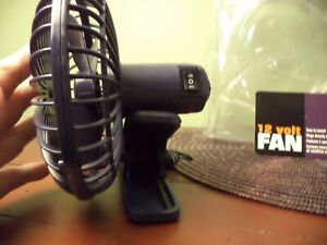 Brand New Personal Clip On Fan For Car Plugs Into Cigarette Lighter 2 Speed Nice