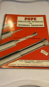 Pope Precision Spindles Manual