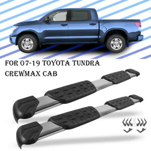 For 2007 2019 Toyota Tundra Crew Max Side Step Running Board Nerf Bar A Pair 5