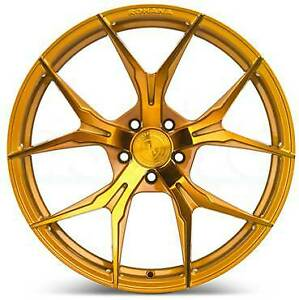 4 new 20 Rohana Rfx5 Wheels 20x10 20x12 5x114 3 22 22 Gold Staggered Rims
