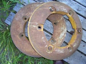 Vintage Ford 3400 Tractor Rear Wheel Weights