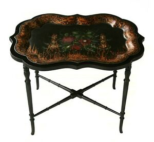 Antique Tole Tray Table Coffee Table
