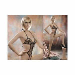 Realistic Adult Sexy Female Fiberglass Full Body Fashion Mannequin With Stool