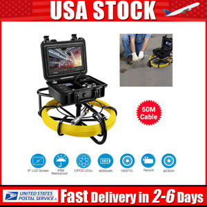 9inch 164ft Drain Endoscope System 23mm Industrial Sewer Camera Video Dvr 8gb