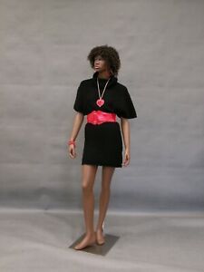 Full Body African American Female Fiberglass Realistic Mannequin With Base