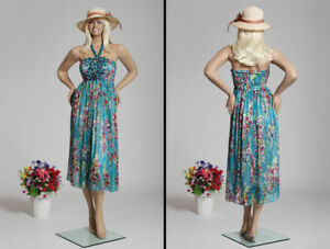Realistic Fiberglass Adult Female Standing Full Body Mannequin With Base