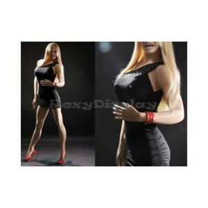 Adult Female Realistic Sexy Full Body Fiberglass Fashion Mannequin With Wig