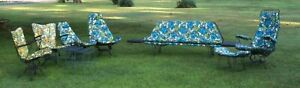 Vintage 8 Pc Set Of Homecrest Wire Mcm Outdoor Furniture Couch 5 Swivel Chairs
