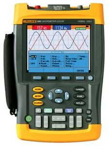 Fluke 196c Digital Color Scopemeter Oscilloscope 100 Mhz 1 Gs s Handheld