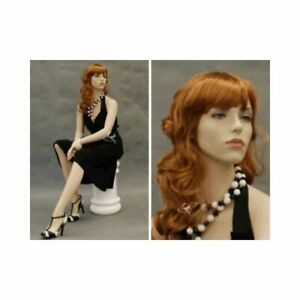 Seated Women s Mannequin Fleshtone Realistic Detailed Face Ladies Sitting Mann