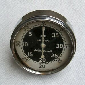 Vintage Stewart Werner Rpm Tachometer Mechanical Gauge Works Perfectly