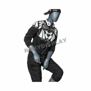 Men s Seated Mannequin Dark Gray Male Full Body Sitting Mannequin