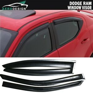 Fit 08 14 Dodge Avenger Sedan Window Visors Smoke Shade Rain Guard Deflector