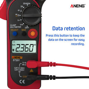 Digital Multimeter Ac Dc Voltmeter Rms Amp Ohm Ohmmeter Lcd Ammeter Clamp Red