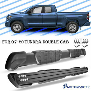 For 2007 2020 Toyota Tundra Double Cab Running Board Side Step Nerf Bar A Pair