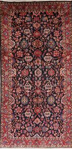 Vintage All Over Floral Runner Rug Wool Oriental Traditional Hand Knotted 5 X 11
