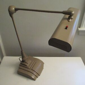 Art Deco Industrial Floating Arm Tanker Desk Drafting Table Lamp Usa Excellent