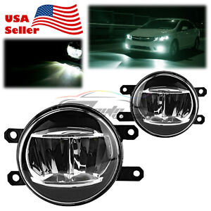 Pair 6000k Led Fog Light Clear Replacement Upgrade For 2009 2013 Toyota Venza T2