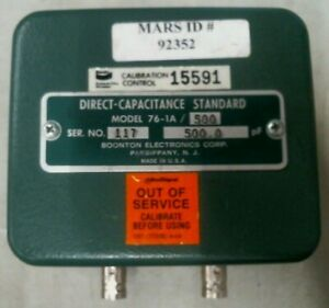 Boonton Electronics 76 1a 500 Direct Capacitance Standard 500 0pf free Shipping