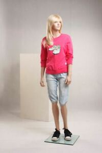 Realistic Female Girls Junior Pre teen Mannequin With Facial Details