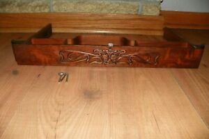 Antique Singer Treadle Sewing Machine Center Drawer With Key And Pins 1910