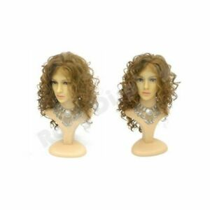 Realistic Female Mannequin Head Display With Removable Head And Included Stand