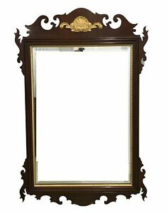 1990 S Large Mahogany Chippendale Style Mirror By Councill Craftsmen