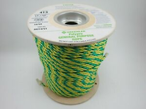 Greenlee 413 Poly Pro General Purpose Rope 1 4 X 600 Feet 50214721
