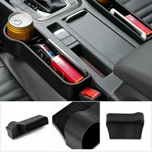 Car Seat Storage Box Console Side Pocket With Coin Phone Organizer Cup Holder 1