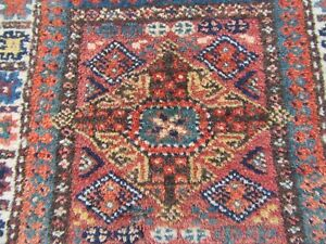 Rare Antique Collectors Persiann Jaf Jaff Kurd Kurdish Bag Face Rug Khorjin