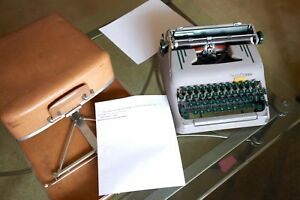 Smith Corona Silent Super 5t Portable Typewriter W Case Tested Watch Video
