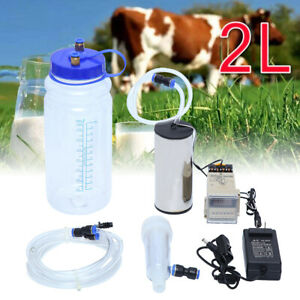 2l Electric Milking Machine Vacuum Pump Strong Suction Milker Tank For Goat