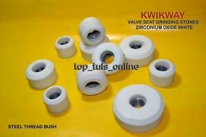 Kwikway Zirconia White Valve Seat Grinding Stone Set 12 Pc 100 Grit Medium