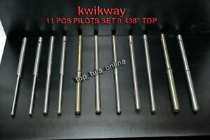Kwikway 11 Pcs Valve Guide Fix Type Pilots Kit 438 Top Imperial metric Combo